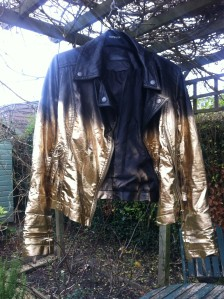 Diy Project 1 Gold And Black Leather Jacket
